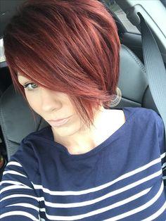 #redhair #shorthair #texturized #bob
