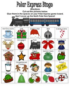 Polar Express Bingo                                                                                                                                                                                 More