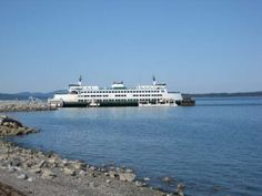 the ferry to Anacortes WA seen daily from our window