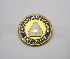 Vintage NUPE Union Pin Badge Enamel Gold Tone Metal By Thomas Fattorini Birmingham Pre 1995 Collectable