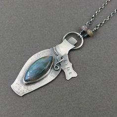 Drink me Alice! Silver pendant.
