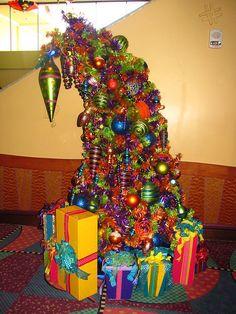 Goofy's Christmas tree at Goofy's Kitchen!!