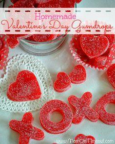 how to cut strawberries fancy | Valentine's Day homemade gumdrops - Valentines-Day-Gumdrops