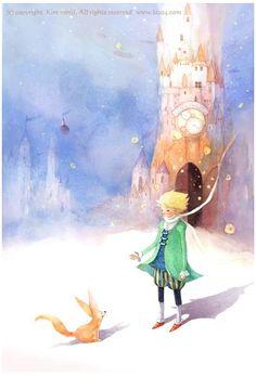 Иллюстрации Ким Мин Джи  Маленький принц