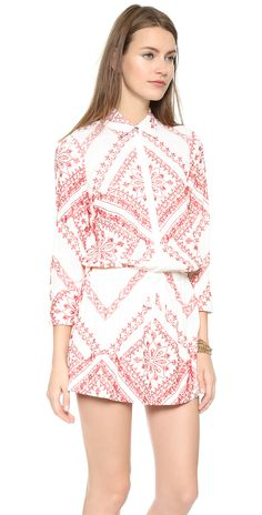 Twelfth St. by Cynthia Vincent Drawstring Shirtdress | SHOPBOP
