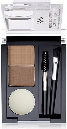 NYX Professional Makeup Eyebrow Cake Powder - Eyebrow makeup kit with two powders and a wax for taming and shading eyebrows. Makeup Dupes, Eyebrow Makeup, Skin Makeup, Nyx Eyeshadow, Lipstick, All Things Beauty, Beauty Make Up, Hair Beauty, Nyx Cosmetics
