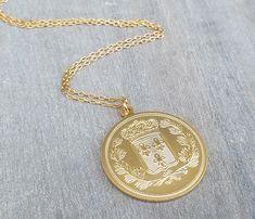 Gold Long necklace Gold coin necklace Coin pendant necklace Coin Pendant Necklace, Gold Necklace, Coin Design, Everyday Necklace, Gold Filled Chain, Gold Coins, Necklace Lengths, Dainty Jewelry, Fashion Ideas