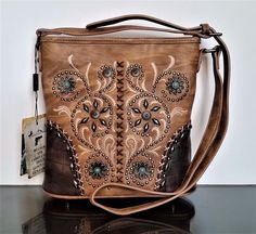 Montana West Concealed Carry Purse Crossbody Messenger Bag American Bling Brown #AmericanBling #MessengerCrossBody