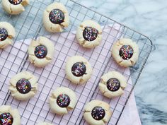 Chocolate Thumbprint Cookies from the dessert chronicles