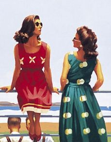 Jack Vettriano - Something In The Air (detail)