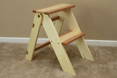 Wooden Folding Step Stool - by ThorinOakenshield @ LumberJocks.com ~ woodworking community