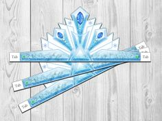 Frozen Ice Princess Printable Crown Instant Download by Shnookers, $4.00