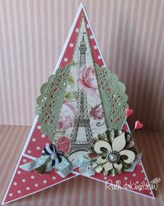 A Passion For Cards: Sweet Paris pyramid card tutorial