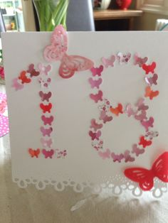 18 th Birthday butterfly card