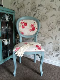 Stunning re upholstered balloon back chair