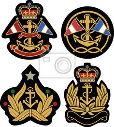 Illustration of classic nautical royal emblem badge shield vector art, clipart and stock vectors. Vintage Labels, Vintage Posters, Harley Davidson Stickers, Shield Vector, Knight Logo, Embroidery Works, Vintage Patches, Banner Printing, Coat Of Arms