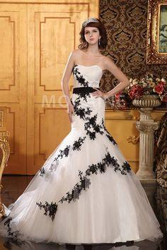 Robe mariee noir et blanc pas cher