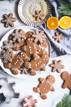 These Vegan Orange Gingerbread Cookies are a healthier version of the Christmas classic and we can't get enough!