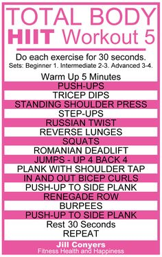 Total Body No Excuses HIIT Workout 5