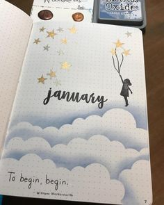 Bullet Journal Monthly Cover Pages For a Whole Year. Need inspiration for your cover pages? Check out these monthly cover page ideas that will inspire you! journal inspiration doodles writing Beautiful Bullet Journal Monthly Cover Pages January Bullet Journal, Bullet Journal Cover Page, Bullet Journal Notebook, Bullet Journal Themes, Bullet Journal Spread, Bullet Journal Inspiration, Journal Pages, Bullet Journals, Art Journals