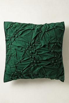 Emerald green throw pillow - Anthropologie's Pearle Euro Sham