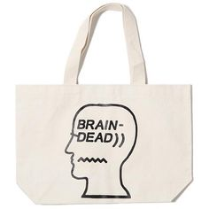 BRAIN DEAD LOGO TOTE / NATURAL - Deadstock.ca  - 1
