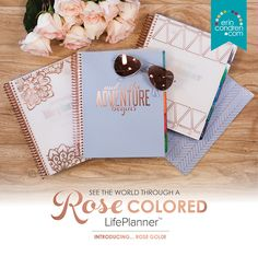 Introducing our NEW Limited Edition Rose Gold (Ready to Ship) LifePlanner! College Planner, Baby Journal, Academic Planner, Erin Condren Life Planner, And So The Adventure Begins, January 2016, Day Planners, Time Capsule, Planner Ideas