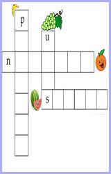 crucigramas infantiles para imprimir