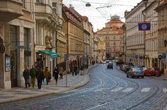 Karmelitska street Mala Strana the Lesser Quarter central Prague Czech Republic Europe   Peter Forsberg