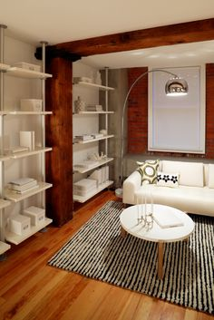trendy apartment furnished  http://www.modern-interior-design.com/2011/09/tips-for-designing-small-spaces/#