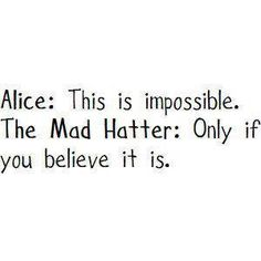 Alice and the Mad Hatter...