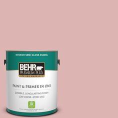 BEHR Premium Plus 1-gal. #S150-2 Tea Room Semi-Gloss Enamel Interior Paint
