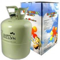 Helium Ballongas für 50 Ballons Einwegflasche, zum Befüllen von Latex- und Folieballons