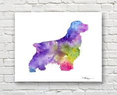 Cocker Spaniel Art Print - Abstract Watercolor Painting - Dog  - Wall Decor