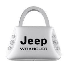 Jeep Wrangler Jeweled Purse Keychain...girls go jeep.