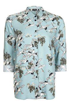 Birds in Flight Shirt - Tops - Clothing - Topshop Europe