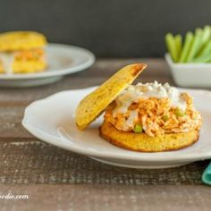 Buffalo Ranch Chicken Salad Sandwiches, grain free and low carb
