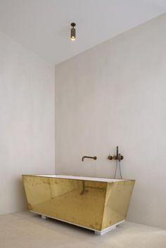 Hans Verstuyft Architects | Indico | golden tub