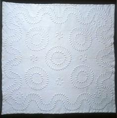 circles, whole cloth quilt