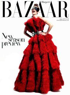 Harper's Bazaar UK August 2012 Julia Stegner by Paola Kudacki