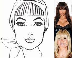 Felquillo recto y alargado: de una sien a la otra, este flequillo es capaz de convertir un rostro con facciones cuadradas en uno ovalado. Para suavizarlo, se usa descargado a los lados. ¡Inspírate en Kim Kardashian y Heidi Klum!