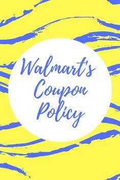 Walmart Coupon Policy