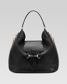 Emily Leather Hobo Bag, Black by Gucci - Would love this for my next purse