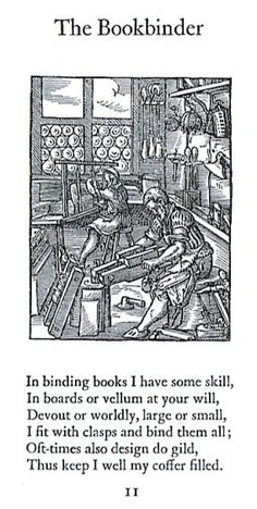 A True Description of All Trades. Published in Frankfort in the year 1568 with six of the illustrations by Jobst Amman. Mergenthaler Linotype co. Brooklyn, NY 1930