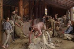 Shearing the Rams ~ Tom Roberts