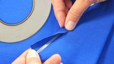 Wondertape kun je gebruiken in plaats vanspelden of rijgen van naad of zoom voordat deze met naaimachine aan elkaar worden bevestigd.