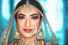 bridal makeup ideas , bridal makeup elegant , bridal makeup , bridal makeup brides , bridal makeup indian wedding , bridal makeup inspirations , bridal makeup glossy Indian Bridal Makeup, Indian Bridal Fashion, Indian Bridal Wear, Phuket Wedding, Thailand Wedding, Destination Wedding, Wedding Planning, Sikh Bride, Sikh Wedding