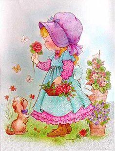 les meli melo de mamietitine - Page 14 Sarah Key, Decoupage Vintage, Vintage Paper, Cute Images, Pretty Pictures, Vintage Postcards, Vintage Images, Sweet Pic, Holly Hobbie