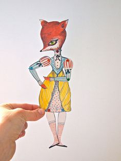 Articulated paper doll kit paper animal by JessQuinnSmallArt, £4.50