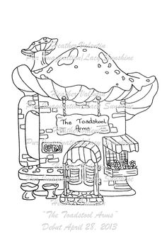 The Toadstool Arms Digi Stamp available at my Lacy Sunshine Shop ... www.lacysunshine.weebly.com